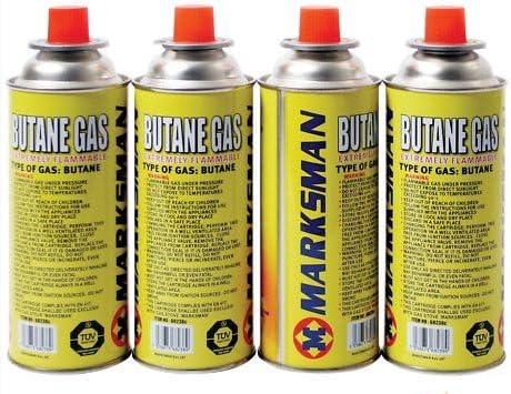 4 Butane Gas Bottles Canister Camping Heater Cooker Bbq
