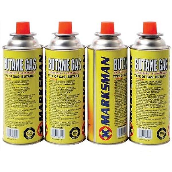 4 Butane Gas Bottles Canister Camping Heater Cooker Bbq ...