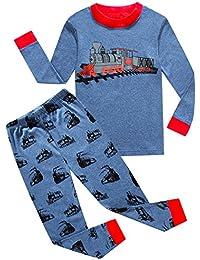 Little Boys Sleepwears Set 100% Cotton Clothes Toddler Kid