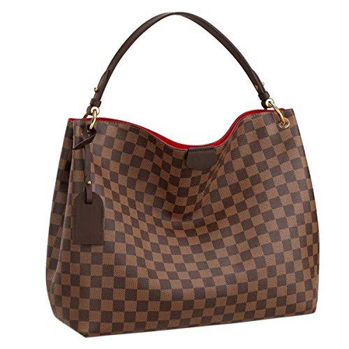 (eLVe Damier Ebene Graceful MM Tote Handbag Article:N44045)