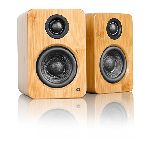 "Kanto YU2 Powered Desktop Speakers - 3"" Composite Driver 3/4"" Silk Dome Tweeter - Bamboo"