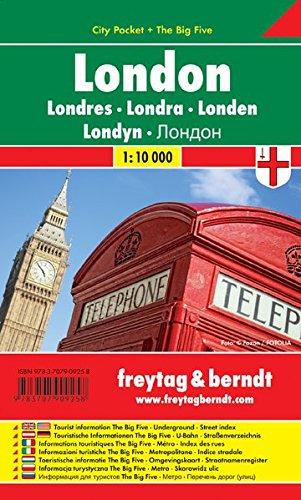 London, Stadtplan 1:10.000, City Pocket + The Big Five, freytag & berndt Stadtpläne