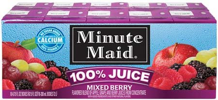 Minute Maid 100% Juice Mixed Berry 200 Ml Box - 4 Pack