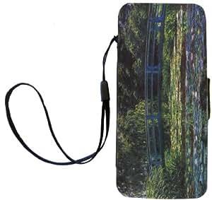 Rikki Knight Claude Monet Art Flip Wallet Case for Water Lily Pond