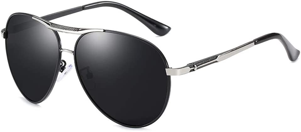 HD Polarized Lenses Sunglasses Myopia Eyewear Nearsighted Glasses Silver Black Frame