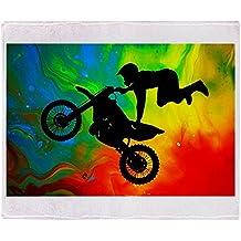 "CafePress - Solar Flare Up Motocross - Soft Fleece Throw Blanket, 50""x60"" Stadium Blanket"
