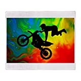 CafePress - Solar Flare Up Motocross - Soft Fleece Throw Blanket, 50''x60'' Stadium Blanket