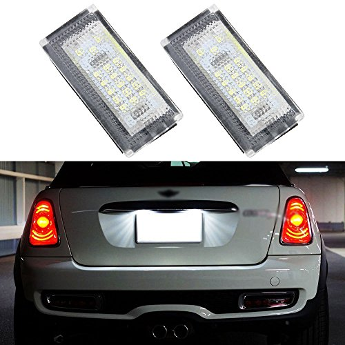 2 PCS Car LED Number License Plate Lights 6000K Plate Light Bulb For BMW/MINI COOPER S R50 R53 Accessories
