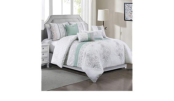 7 Piece Breenda Sage//Blush//Gray Comforter Set
