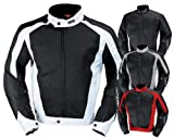 IXS Men's Airmesh Evo 2 Jacket (Black/White, Medium)