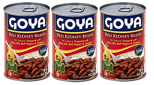 Goya Red Kidney Beans in Sauce with Olive Oil, Bell Pepper & Tomato 15oz (3 -