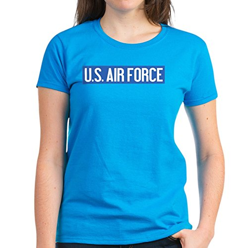CafePress - U.S. Air Force: Vintage (O - Womens Cotton T-Shirt Caribbean Blue