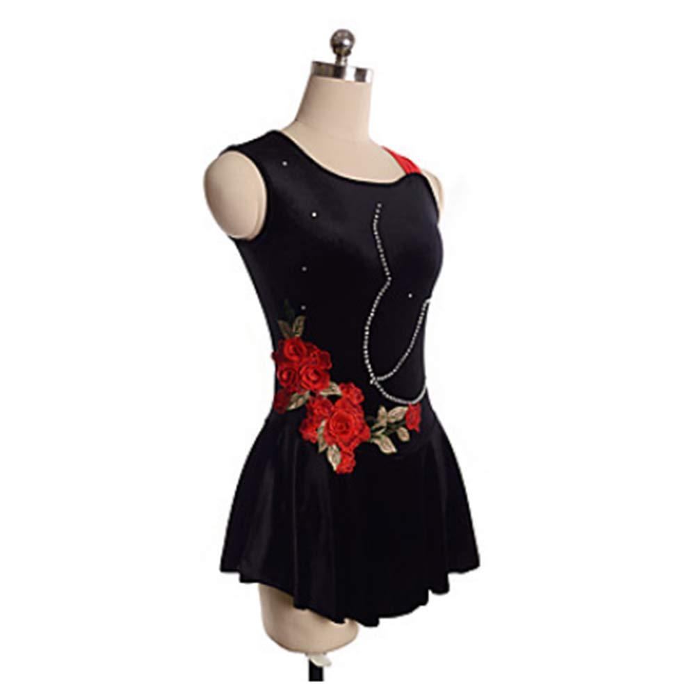 XXXS HUAYANGNIANHAU Le Costume de Patinage Artistique de Fille de Robe de Patinage Artistique de Fille Peut être la Couleur et la Taille adaptées aux Besoins du Client,M