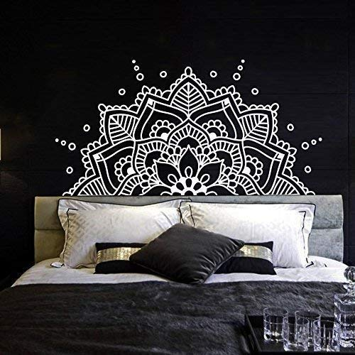 Half Mandala Wall Decal Vinyl Sticker Headboard Master Bedroom Boho  Bohemian Decor Yoga Studio Namaste Ornament Mandala Decals Decor F129