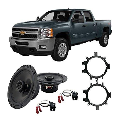 Door Pickup Replacement - Fits Chevy Silverado Pickup 1999-2013 Front Door Replacement HA-R5 Speakers