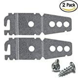 Dishwasher Bracket Whirlpool - Kenmore - Sears - KitchenAid - Maytag Compatible | Dishwasher Mounting Brackets with 2 Screws - 2-Pack by Harmony Crafter