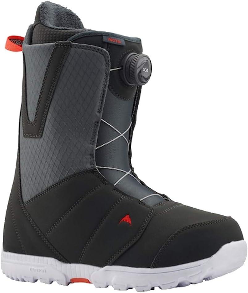 Burton Mens Moto Boa� Snowboard Boot Gray//Red