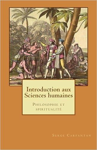 Introduction Aux Sciences Humaines Philosophie Et