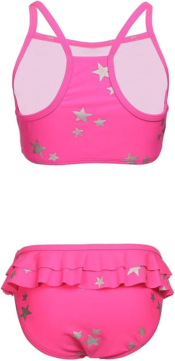BELLOO Girls Two Piece Swimsuit Bikini Beach Sport Set for 4-14 Years