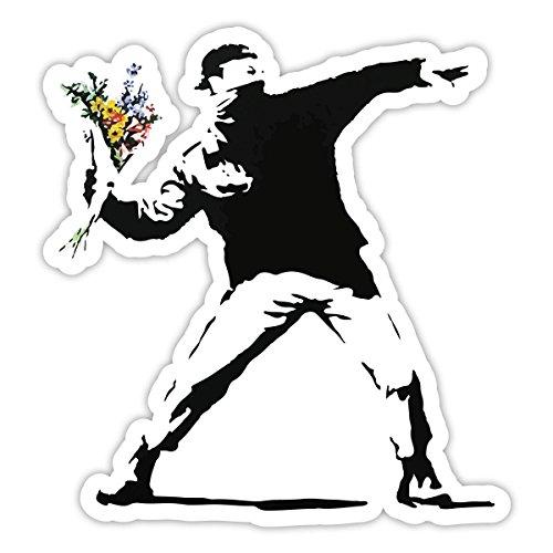 - Banksy Flower Thrower Sticker (4 x 4 inches)
