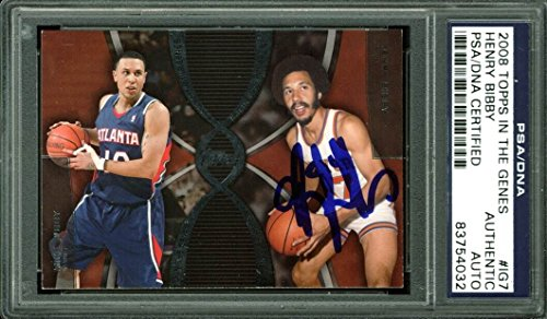 Knicks Henry Bibby Signed Card 2008 Topps In The Genes  Ig7 Psa Dna Slabbed