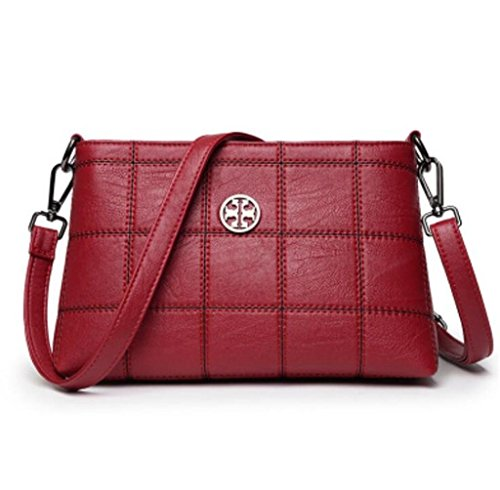 à Lady Bag bandoulière Sac Cinq Shopping Couleurs Simple Unique Main à Messenger Travail Red SHOUTIBAO Sac qR4Sw