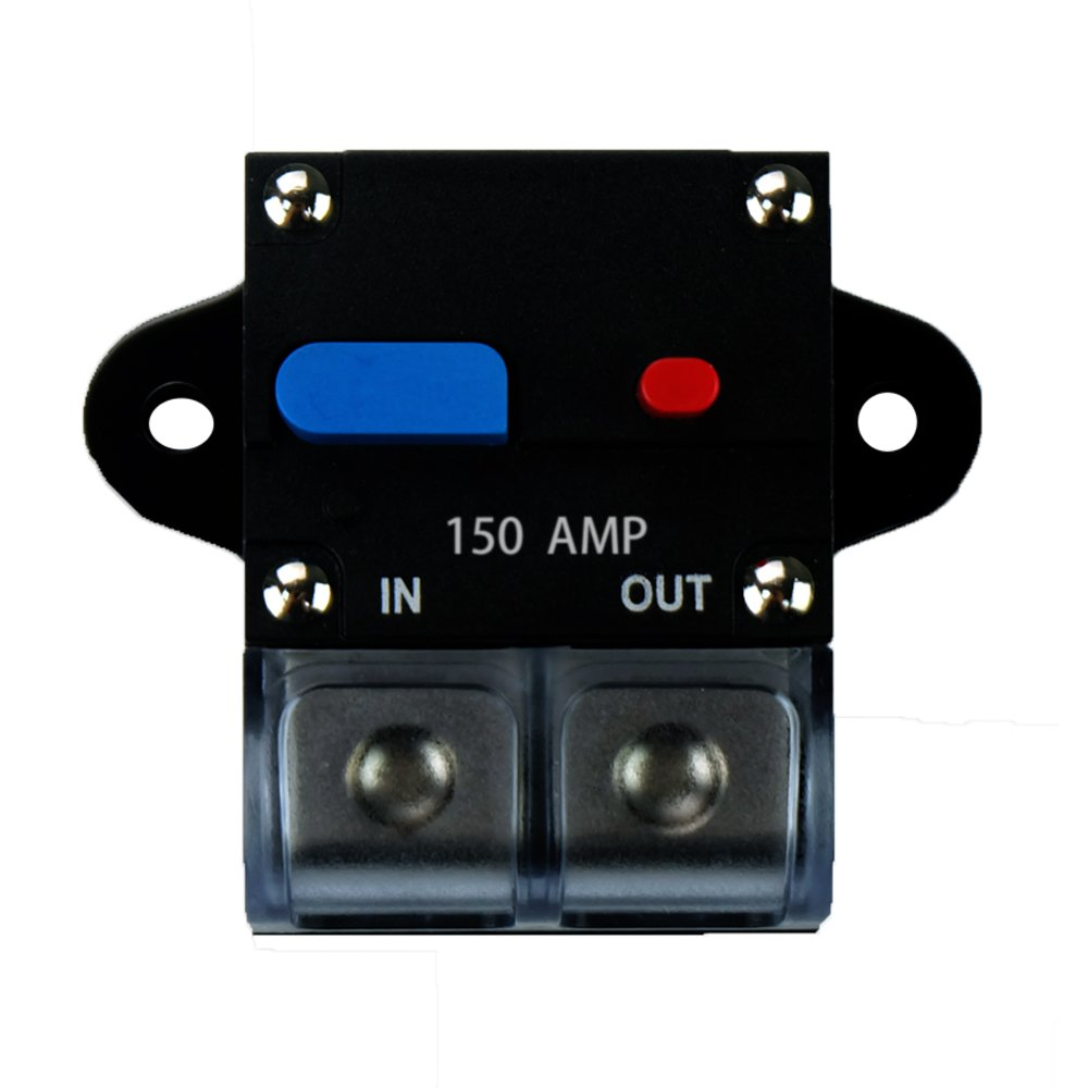 soyond 12V-24V DC Circuit Breaker Trolling Motor Auto Car Marine Boat Bike Stereo Audio Inline Fuse Inverter Waterproof with Manual Reset 80A 80Amp