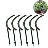 Exttlliy 6Pcs Plastic Arcuated DIY Plant Support Garden Climbing Trellis Flower Supports for Chinese Rose/Orchid Dark Green