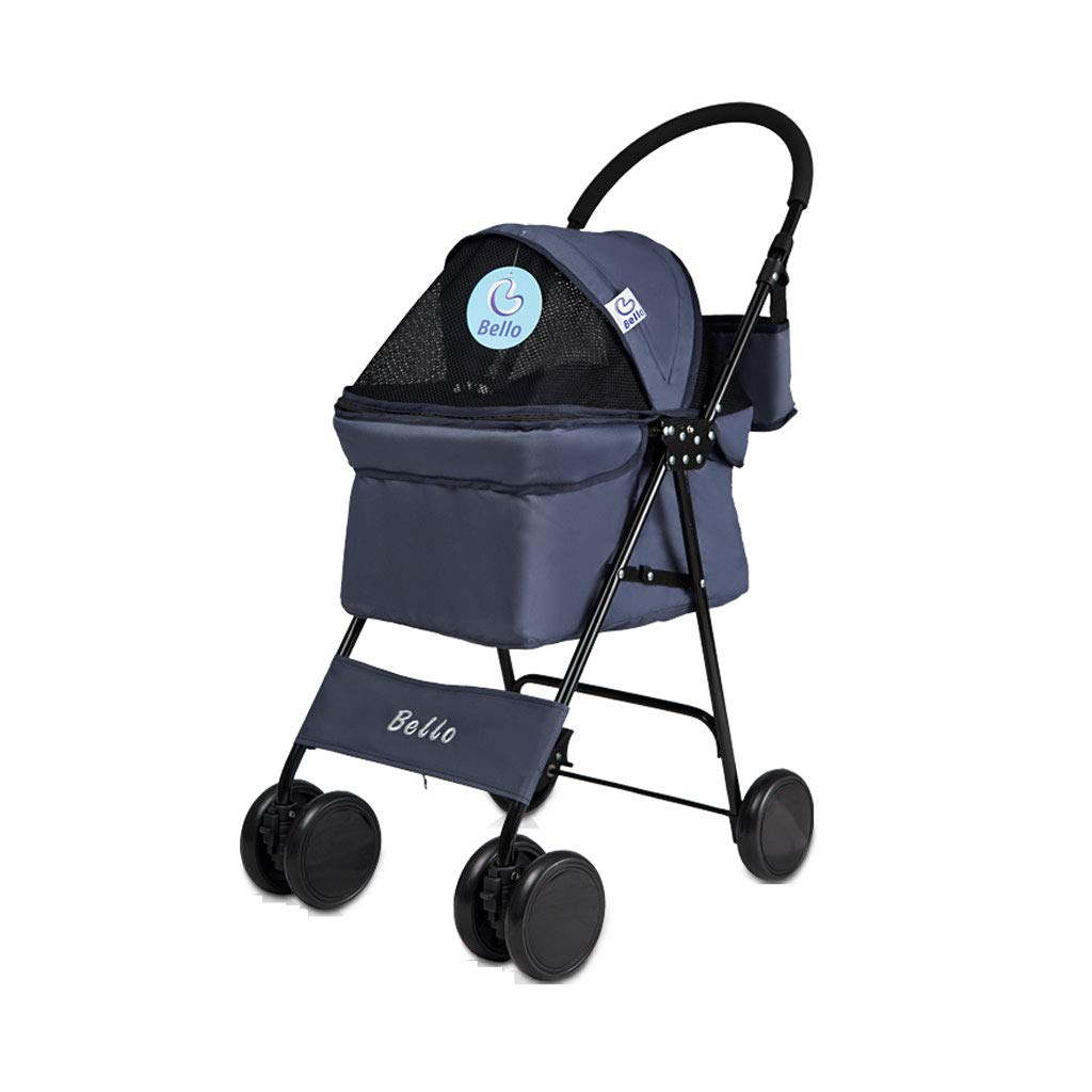 B A3 Pet Stroller Top Cover Can Be Flipped Four-Wheeled Dog cat Cart Can Carry 10 Kg of Animal Sports Car to Travel and Walk. Dog cart (color   B)