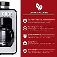 Amazon Com Best Choice Products 600w 4 Cup Automatic Kitchen Coffee Maker For Whole Beans Or Ground Coffee W Built In Grinder 2 Intensity Levels Glass Pot Auto Drip Warm Plate Scoop Brush Kitchen Dining