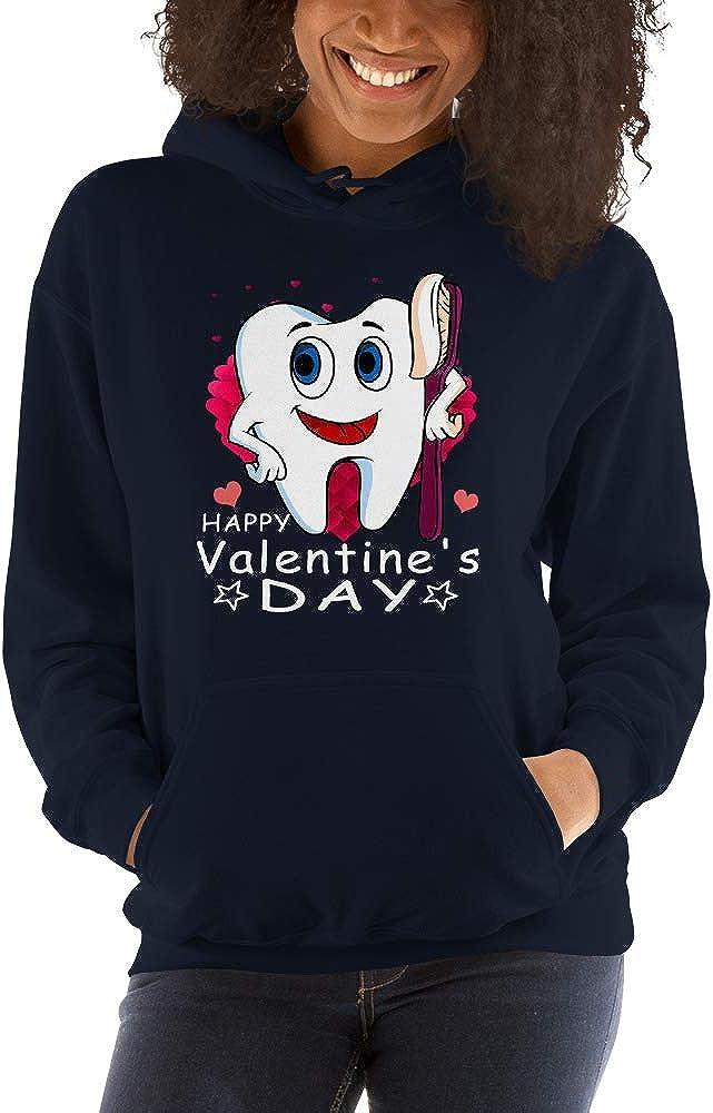 TEEPOMY Tooth Hug Brush Teeth Dentist Valentines Gift for Dental Unisex Hoodie