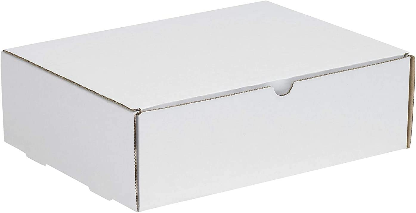 Pack of 4 12-1//8 Length x 9-1//4 Width x 4 Height Bundle of 50 Oyster White Aviditi M1294 Corrugated Literature Mailer