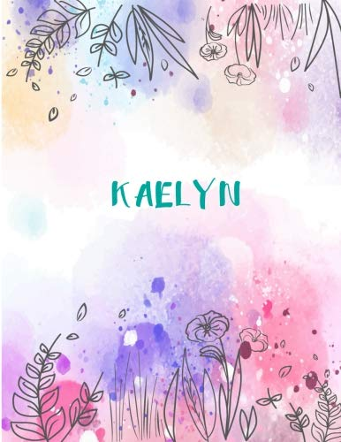 Kaelyn: 8.5x11 inches 110 Lined Pages 55 Sheet Peony for sale  Delivered anywhere in USA