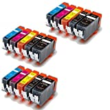 YATUNINK 15Pack Compatible PGI-220 CLI-221 FOR CANON NON-OEM INK COMBO fits Canon All-in-One Machines PIXMA Series Printer