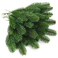 Yarssir 25pcs Artificial Pine Green Leav...