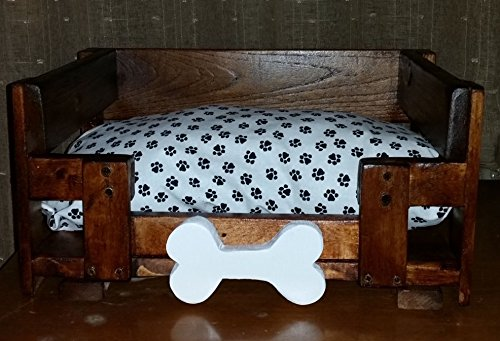 NEW! Small Wooden Dog Bed Table Room Wood Furniture Cave House