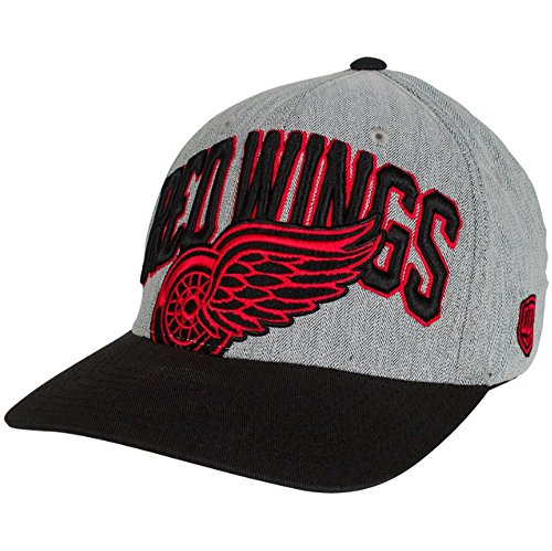 - Old Time Hockey Detroit Red Wings Chopper Grey Structured Flex Fit Hat/Cap