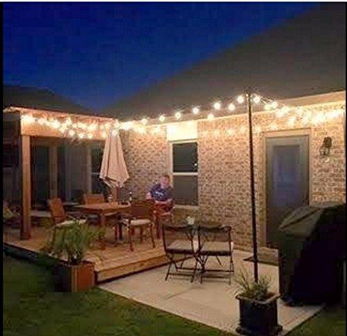 25FT Outdoor G40 Globe String Lights, Vintage Backyard