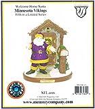 Minnesota Vikings Welcome Home Santa Figurine (5th in Limited Series)