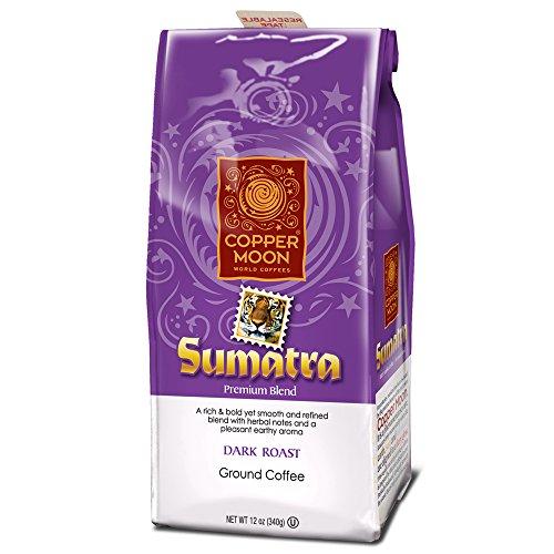 Copper Moon Coffee Sumatra Dark, Ground, 12 Ounce