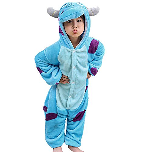 b8c9cdc91808 Queenstyle Adult New Sulley Onesie Pajamas Kigurumi Cosplay Costumes Animal  Outfit (Height(133-143)