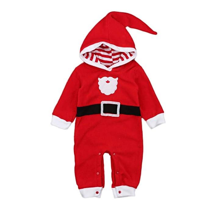 pacchetto elegante e robusto la più grande selezione di corrispondenza di colore KISSION Natale Babbo Pagliaccetto per Bambino Neonato ...