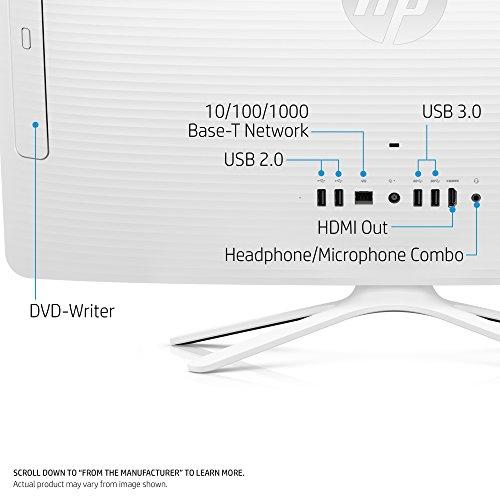 HP 24-inch All-in-One Computer, Intel Core i3-7100U, 4GB RAM, 1TB hard drive, Windows 10 (24-g230, White) by HP (Image #2)