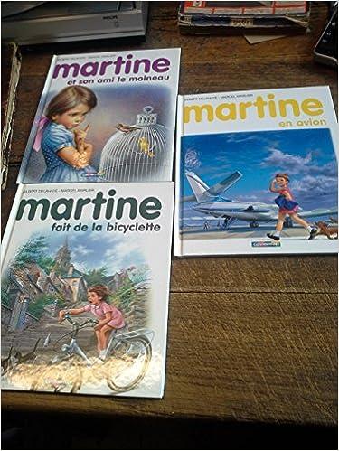 Amazon Fr Lot De 3 Livres Martine En Avion Fait De La