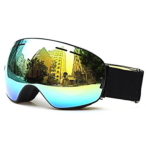 Ski Goggles, Loyalfire Polarized Snow Goggles with Double Layers UV Protection Anti-Fog Myopia Frame Ski Mask Glasses Skiing Men Women Kids Snow Snowboard - Polarized Goggles Best Ski