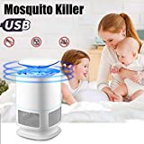 LiPing USB Indoor Outdoor Use Electric Powered Non-toxic LED Mosquito Lamp-, Fly Bug Insect Killer for Porch Deck Patio Backyard Mosquito Killer Lamp (White)