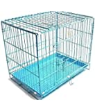 Pet Club51 Stainless Steel Dog Cages Sky Blue Medium 18 Inches