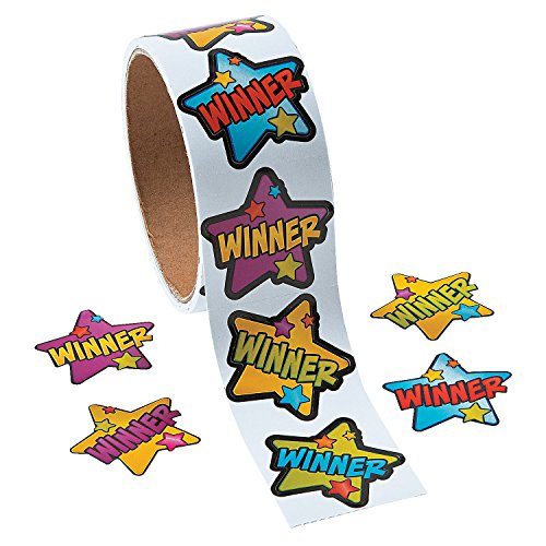 Winner Roll Star Stickers