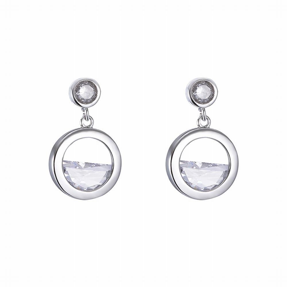 Ling Studs Earrings Hypoallergenic Cartilage Ear Piercing Semi-Circular Zircon Earrings, Short, Geometric Earrings