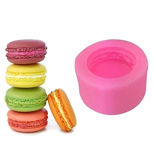 est/éreo gelatina Molde de Silicona para Tartas Chocolate dise/ño de Macaron 3D decoraci/ón de Pasteles Galletas Lucky Family